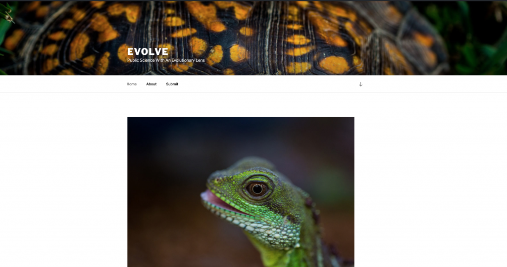 Evolve Bio Site Screenshot